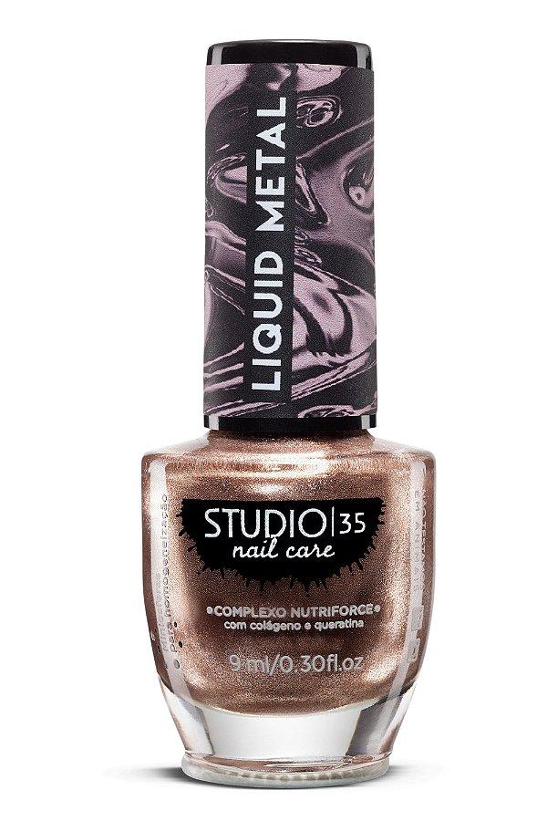 Esmalte Fortalecedor Studio 35 - 9 ml - Linha Liquid Metal Cor #explosaobronze