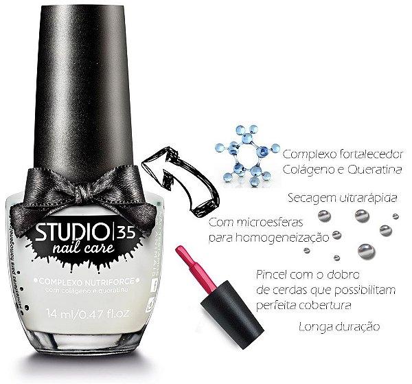 Base Fortalecedora Studio 35 com Colageno e Queratina 14 ml - #baseseda