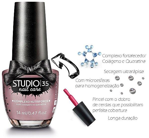 Esmalte Fortalecedor Studio 35 14 ml Professional Care #felpudinho - 29 (Cintilante Perolado)