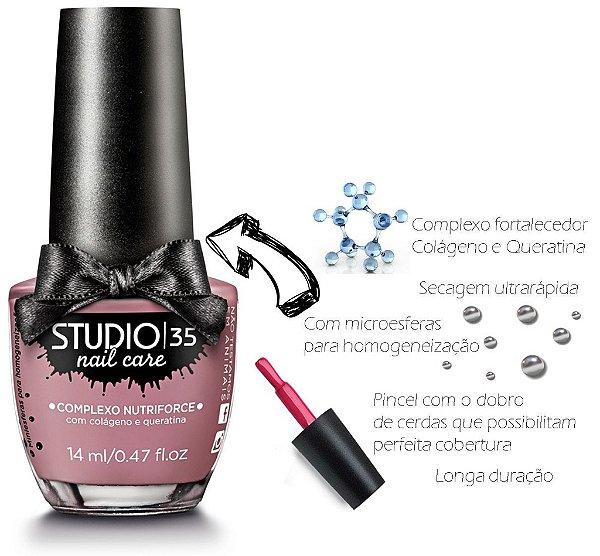 Esmalte Fortalecedor Studio 35 14 ml Professional Care #lacinho - 12 (Cremoso)