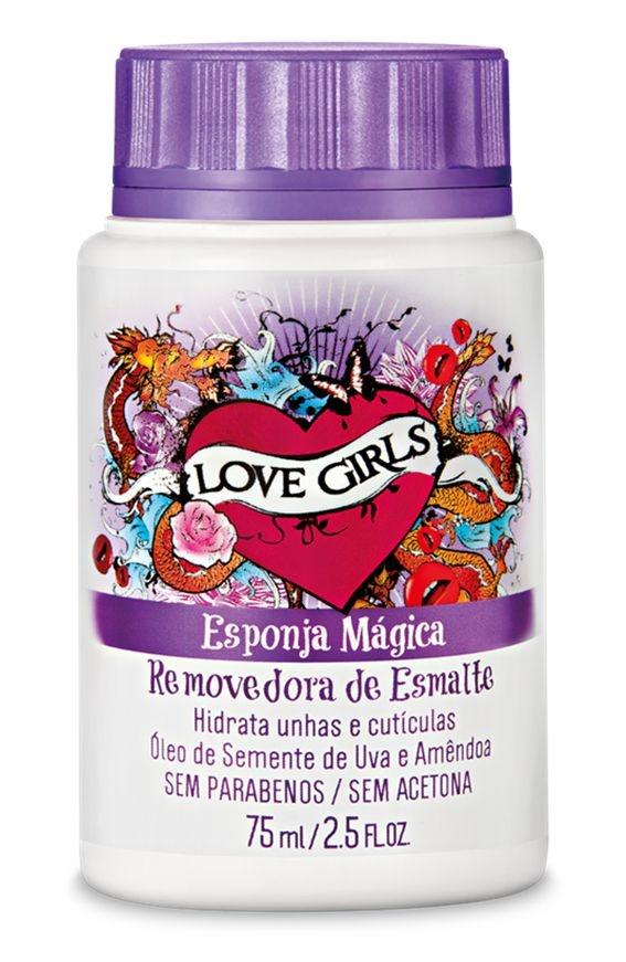 Removedor de Esmaltes Love Girls 75 ml Uva e Amendoa - Sexy Cosmetics