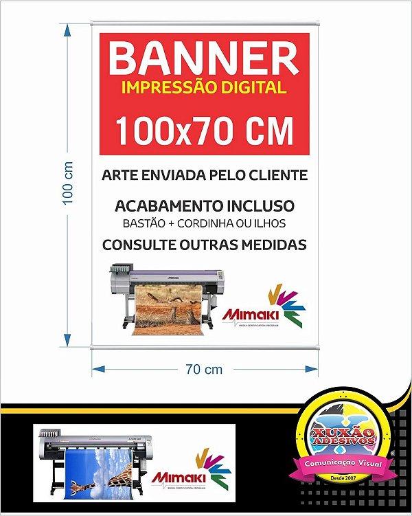 Banner com impressão digital em lona 100x70