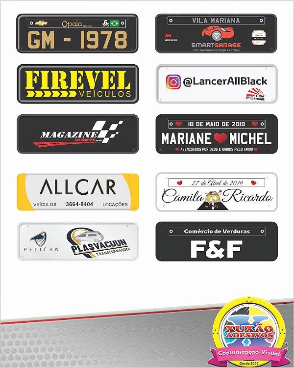 Placas Em Pvc Personalizadas P/ Carro - Transbike - Casamento - Empresa - Maternidade - Diversos