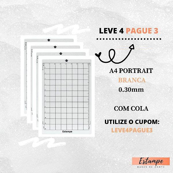 LEVE 4 PAGUE 3 A4 PORTRAIT BRANCA COM COLA 0.30mm