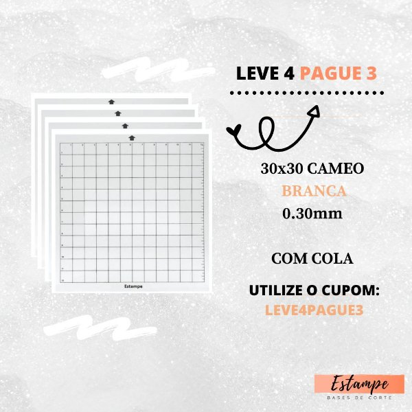 LEVE 4 PAGUE 3 30x30 CAMEO COM COLA BRANCA 0.30