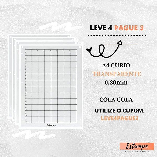 LEVE 4 PAGUE 3 A4 CURIO COM COLA TRANSPARENTE 0.30