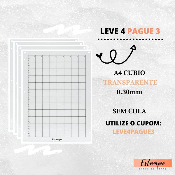 LEVE 4 PAGUE 3 A4 CURIO SEM COLA TRANSPARENTE 0.30