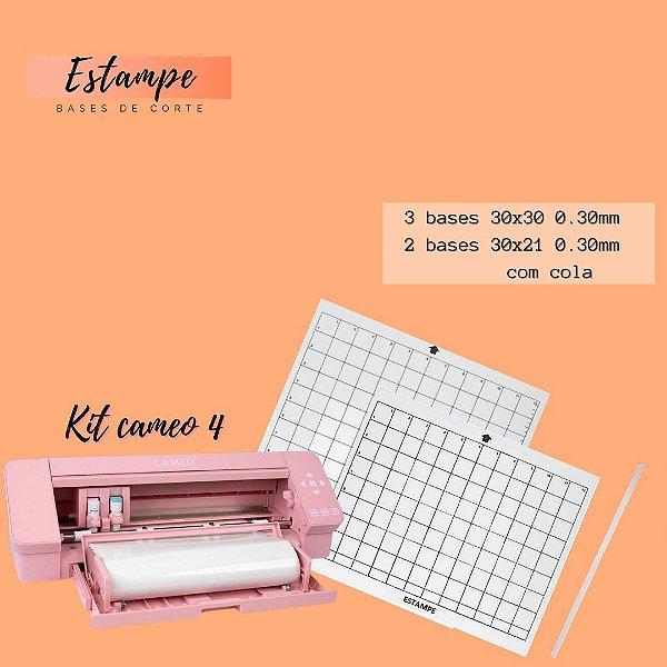 Kit Cameo 4 - 3 30x30; 2 30x21 + 1 fita BRINDE (0.30 com cola) TRANSPARENTE