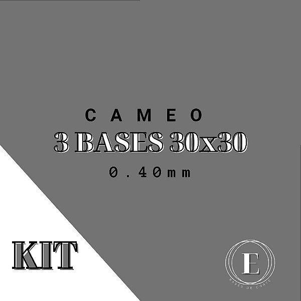 KIT CAMEO- 3 30x30 (0.40mm com cola) TRANSPARENTE