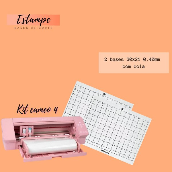 KIT CAMEO 4 - 2 30x21(0.40mm com cola) TRANSPARENTE