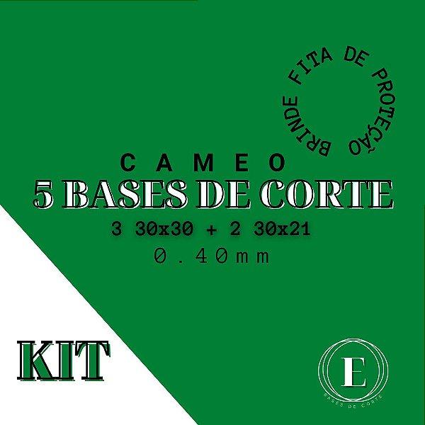 KIT CAMEO- 3 30x30; 2 30x21 + 1 fita BRINDE (0.40 com cola) TRANSPARENTE