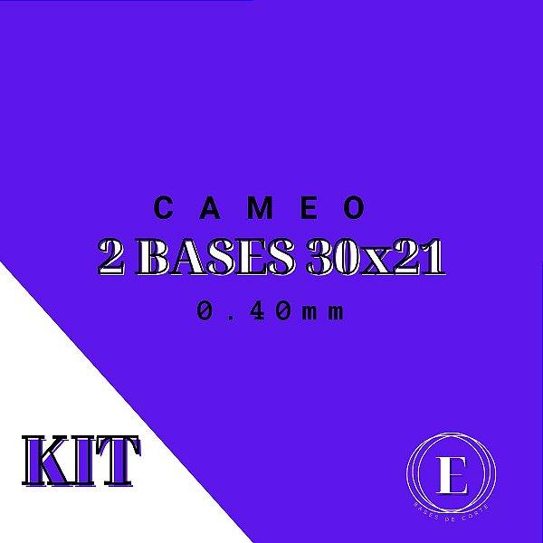 KIT CAMEO - 2 30x21 (0.40mm com cola) TRANSPARENTE