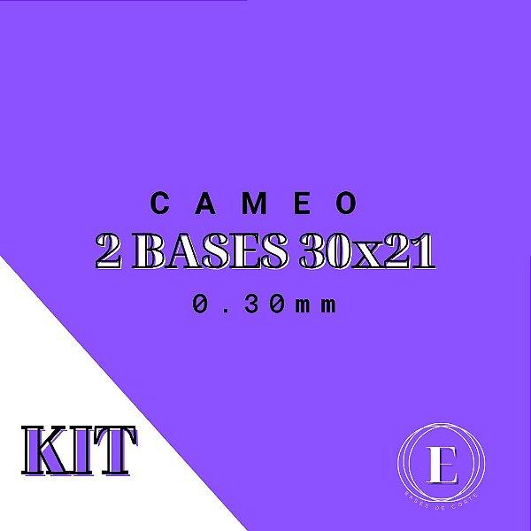 KIT CAMEO - 2 30x21 (0.30mm com cola) TRANSPARENTE