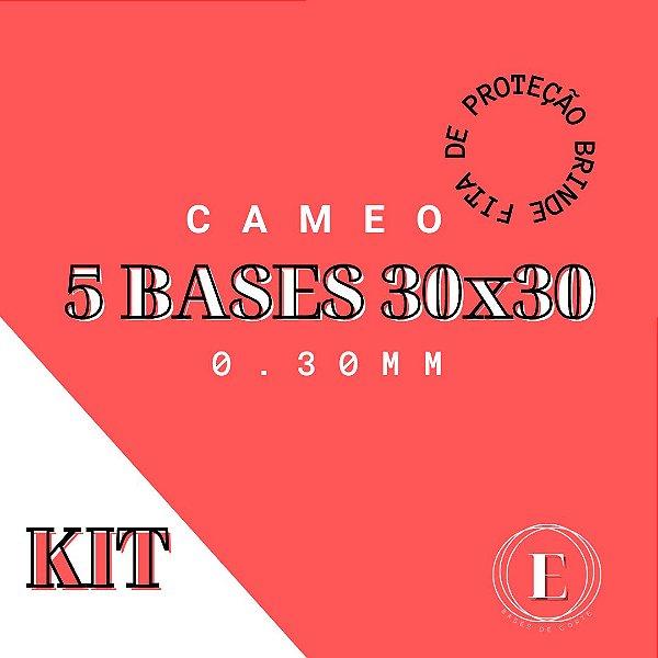 KIT 5 BASES CAMEO 30x30 0,30 COM COLA + FITA BRINDE