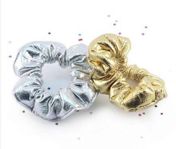 Scrunchies  Dourado e Prateado