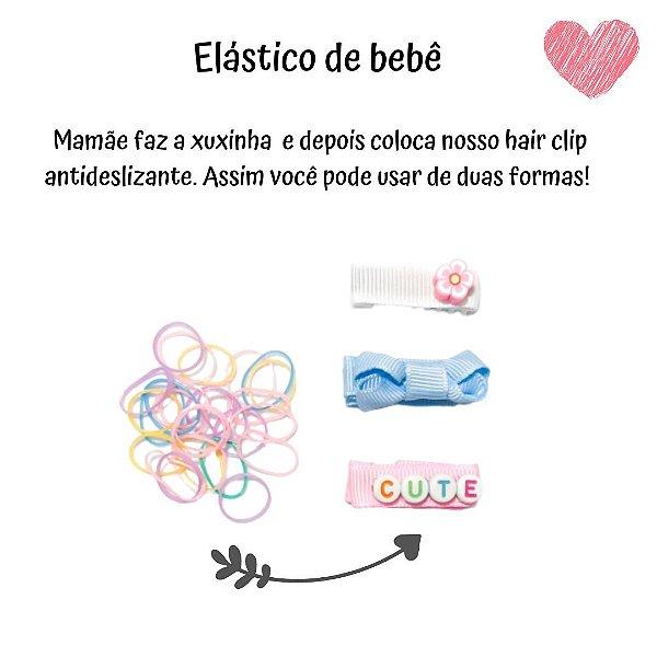 KIT HAIR CLIP (BORRACHINHA ANTIDESLIZANTE) + ELÁSTICO BABY