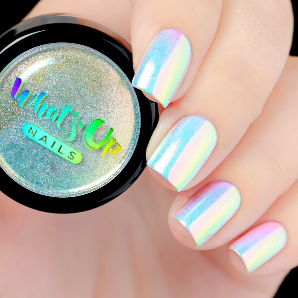 Pó Para Unhas Efeito Cromado Unicórnio Iridescente Furta-Cor Whats Up Nails - Aurora Pigment
