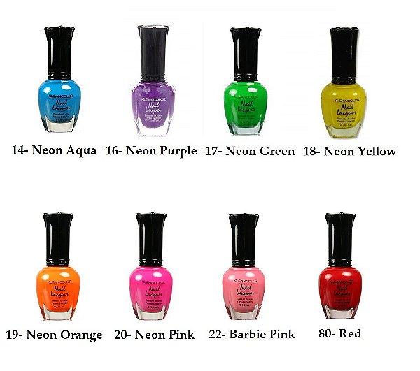Esmalte Kleancolor Neon - 1 Unidade - Escolha a Cor