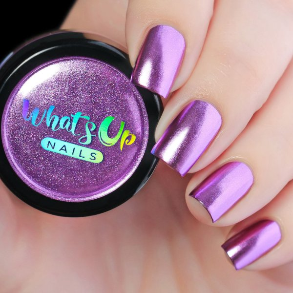 Pó Para Unhas Efeito Cromado Lilás Whats Up Nails - Lilac