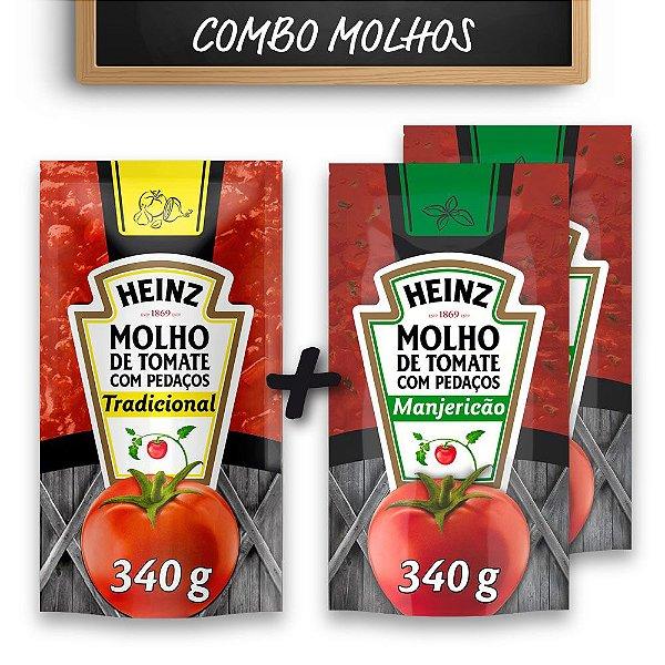 Kit c/ Molho Tradicional Heinz + 2 Molhos Manjericão Heinz