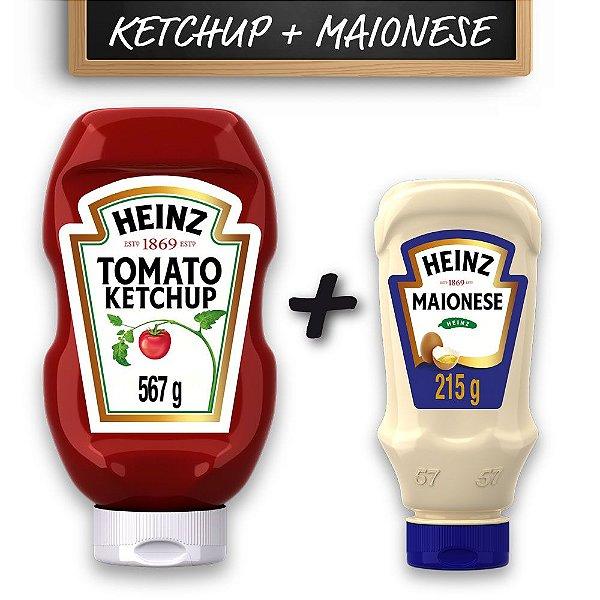 Kit c/ Ketchup Heinz Tradicional 567g e Maionese Heinz 215g