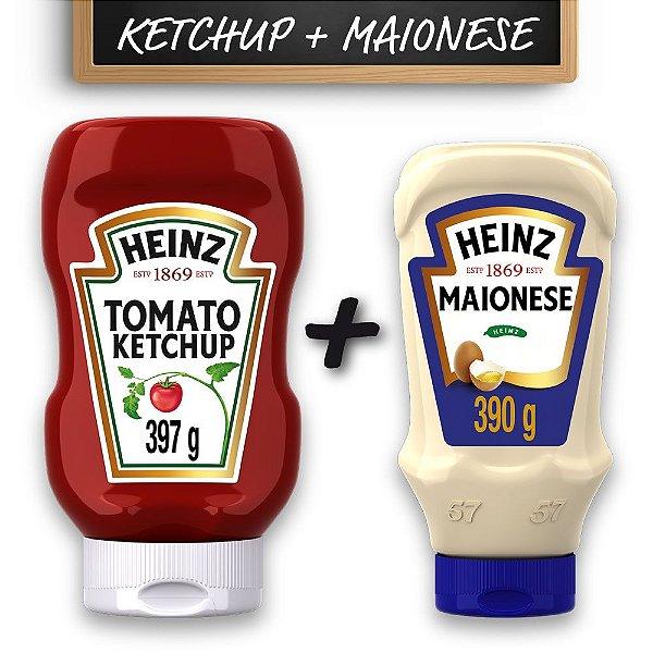 Kit c/ Ketchup Heinz Tradicional 397g e Maionese Heinz 215g