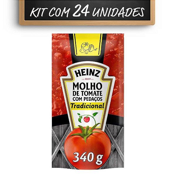 Kit c/ 24 Molho De Tomate Heinz Tradicional 340g