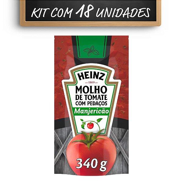 Kit c/ 18 Molho De Tomate Heinz Manjericao 340g