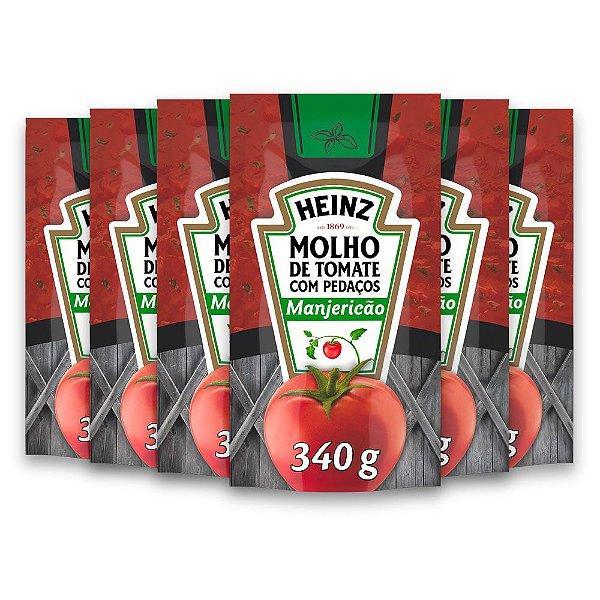 Kit c/ 6 Molho De Tomate Heinz Manjericao 340g