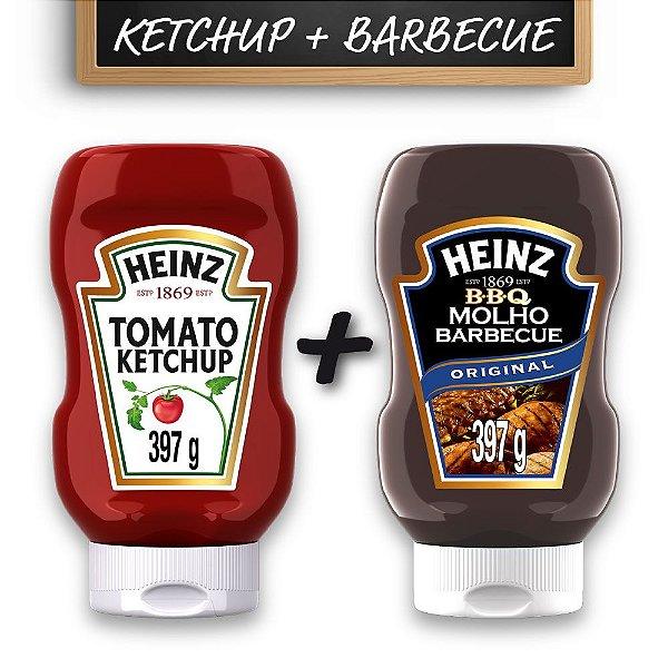 Kit c/ Ketchup Heinz Tradicional 397g + Barbecue Heinz 397g