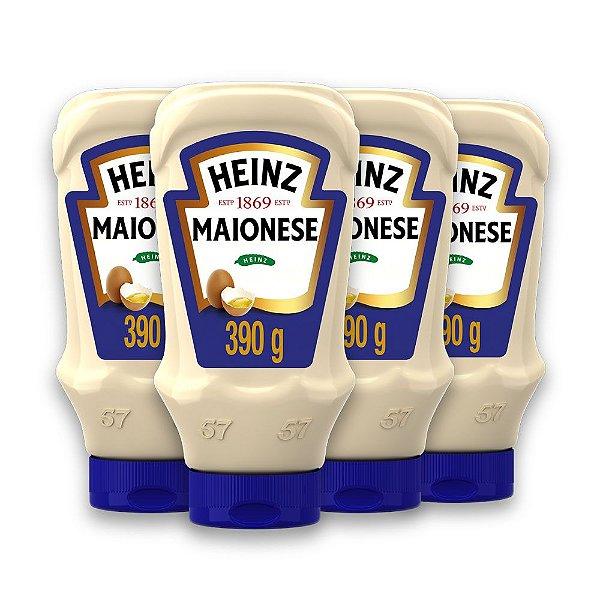 Kit c/ 4 Maioneses Heinz Tradicional 390g