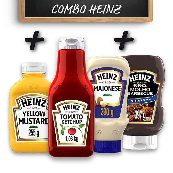 Kit c/ Ketchup Heinz  + Maionese Heinz + Mostarda Heinz + Barbecue Heinz