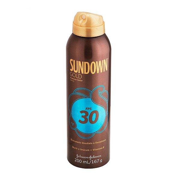 Protetor Solar SUNDOWN Gold FPS 30 Spray 200ml