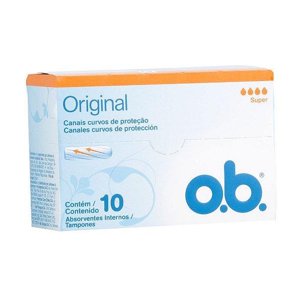 Absorvente Interno O.B Super Original 10 unidades