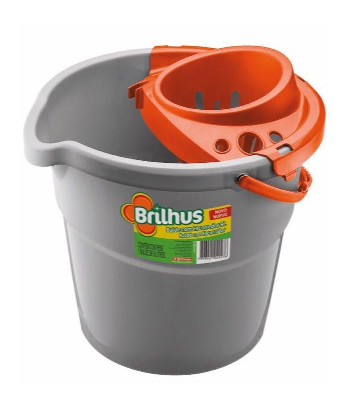 Brilhus Balde com Escorredor Plástico 9 L