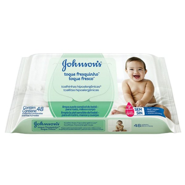 Lenços Umedecidos JOHNSON'S Baby Toque Fresquinho 48 unidades