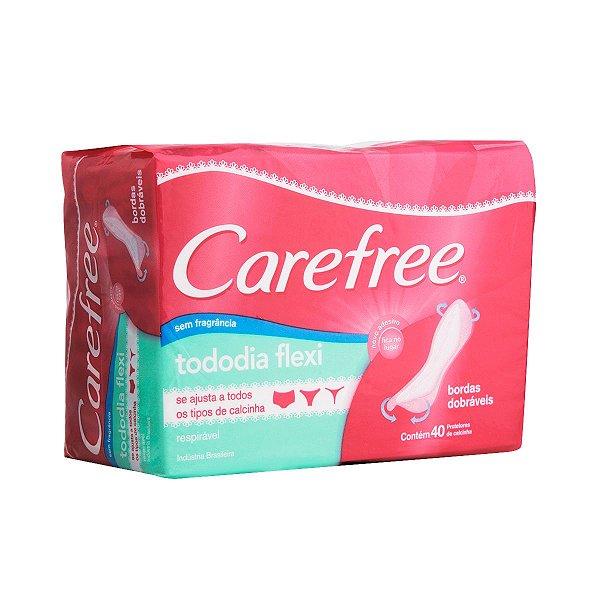 Protetor Diário CAREFREE Todo Dia Flexi sem Perfume 40 unidades
