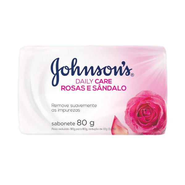 Sabonete em Barra Johnson's Daily Care Rosas e Sândalo 80g