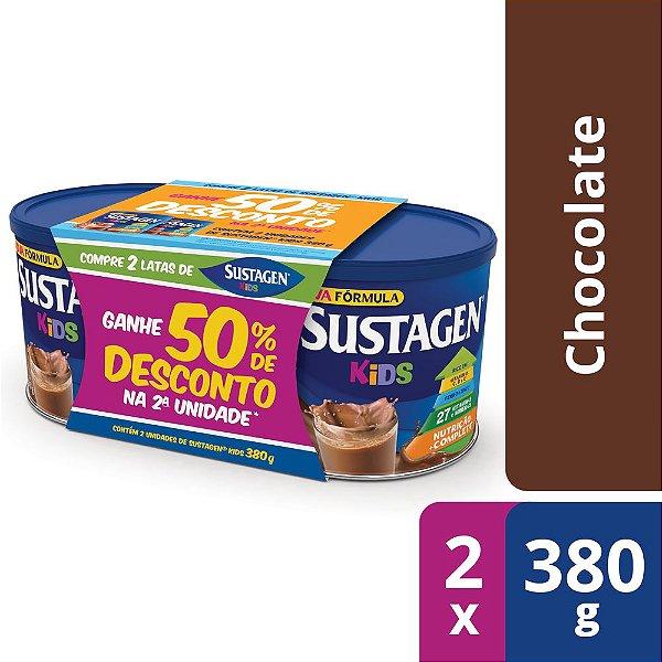 Sustagen Kids Sabor Chocolate - Kit Lata 2x380g