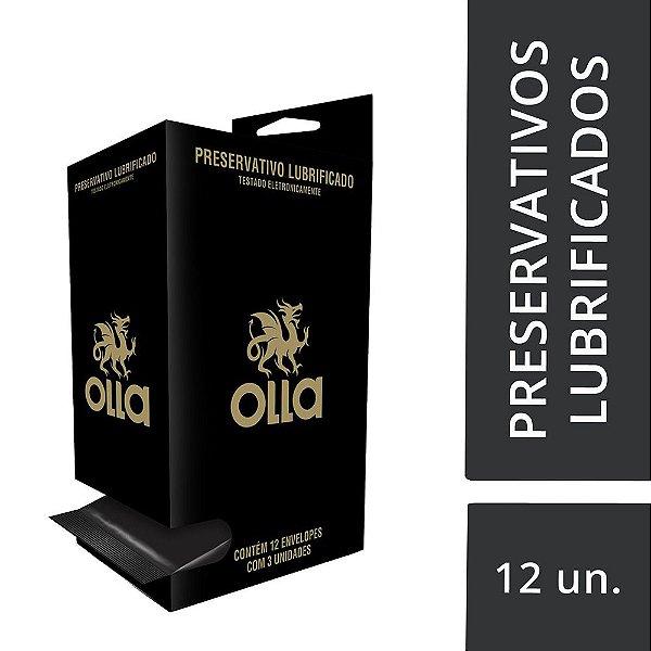 Preservativo OLLA Lubrificado Display com 12 unidades