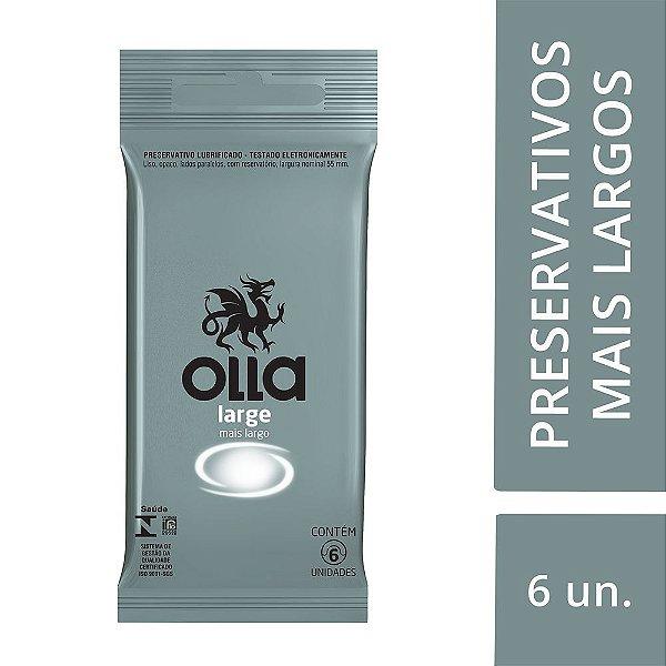 Preservativo OLLA Lubrificado Large 6 unidades