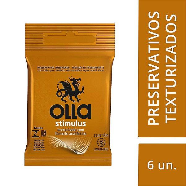 Preservativo OLLA Lubrificado Stimulus 3 unidades