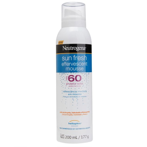 Protetor Solar NEUTROGENA Sun Fresh Mousse Efervescente FPS 60 200ml
