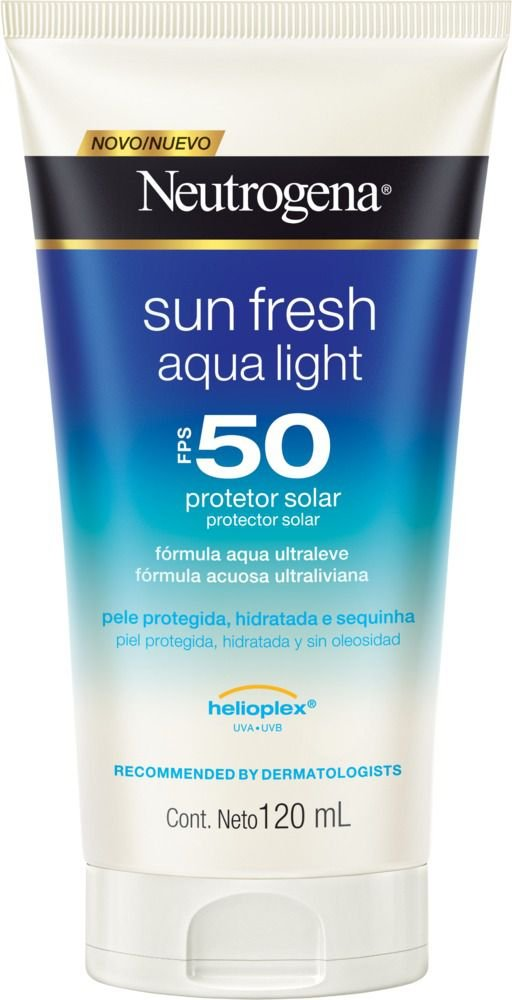 Protetor Solar Neutrogena Sun Fresh Aqua Light FPS 50 120ml