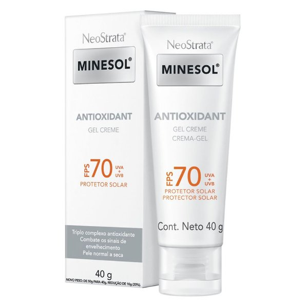 Protetor Solar Facial Neostrata Minesol Antioxidant FPS 70