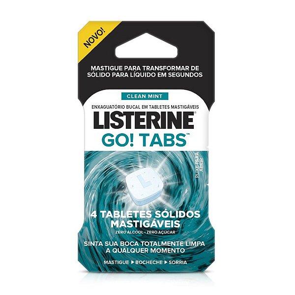 Enxaguante Bucal Listerine Go! Tabs c/4 unidades