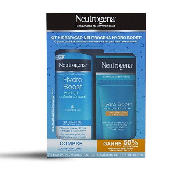 Promopack Neutrogena Hydro Boost - Compre 1 Hidratante Corporal, ganhe 50% de desconto no Hidratante Facial FPS25