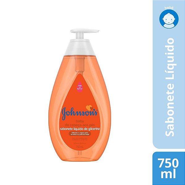 Sabonete Líquido de Glicerina JOHNSON'S Baby Da Cabeça aos Pés 750 ml