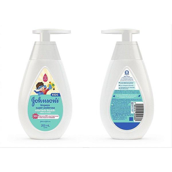 Sabonete Líquido JOHNSON'S Limpeza Super Poderosa 200 ml