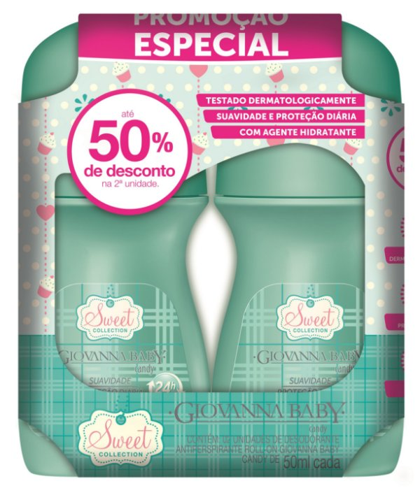 Pack c/ Desodorante Rollon Giovanna Baby Candy 50 ml